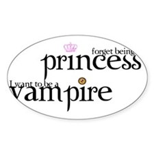 2-forget princess, I want to be a v Decal