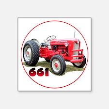"Ford661-C8trans Square Sticker 3"" x 3"""
