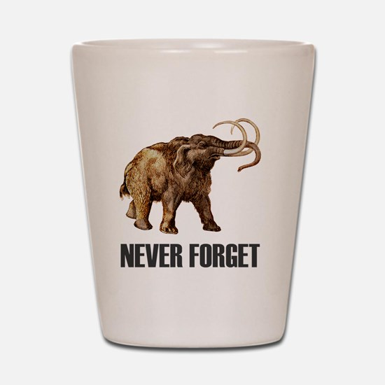 NF Woolly Mammoth-1 Shot Glass