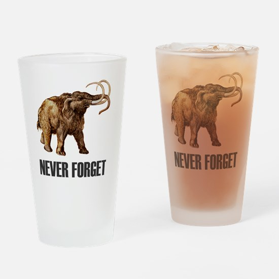 NF Woolly Mammoth-1 Drinking Glass