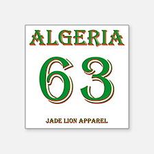 "Algeria football back copy Square Sticker 3"" x 3"""