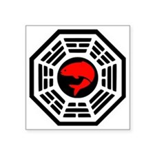 "Red Herring Dharma Square Sticker 3"" x 3"""