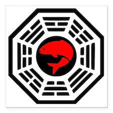 "Red Herring Dharma Square Car Magnet 3"" x 3"""