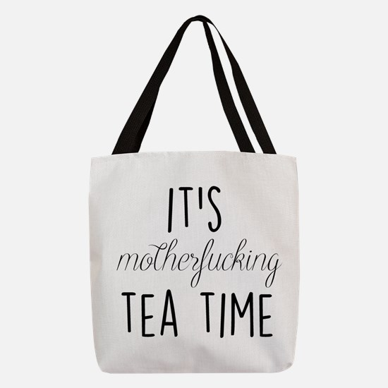 It's Tea Time Polyester Tote Bag