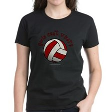 volleyball-red Tee