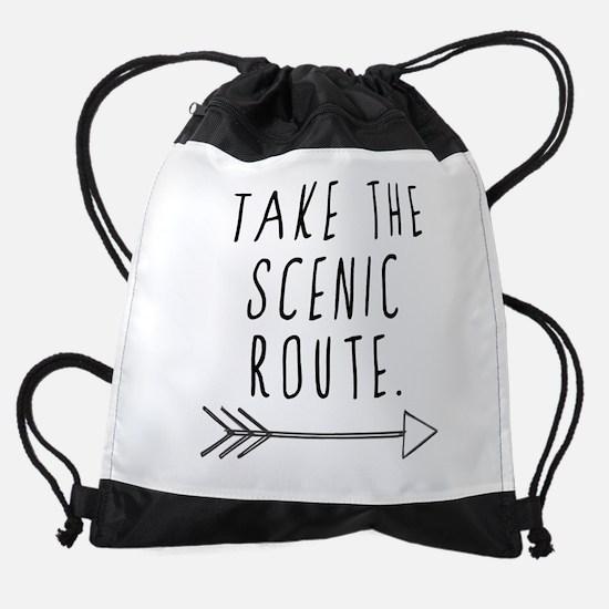 Scenic Route Drawstring Bag