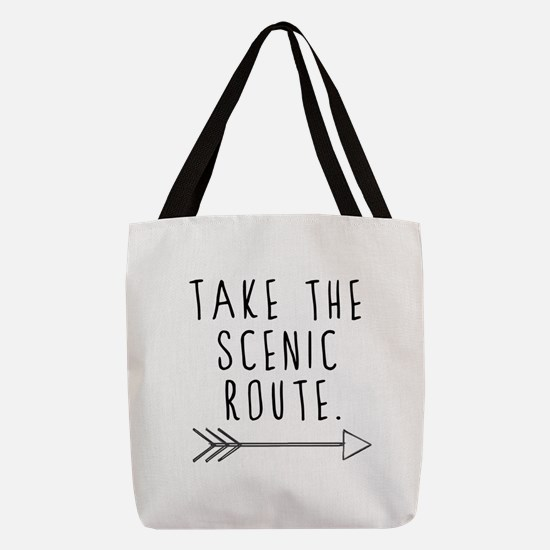 Scenic Route Polyester Tote Bag
