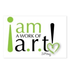 I am a work of a.r.t! Postcards (Package of 8)