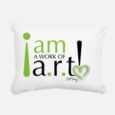 I am a work of a.r.t! Rectangular Canvas Pillow