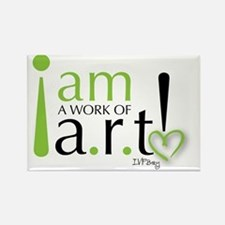 I am a work of a.r.t! Rectangle Magnet