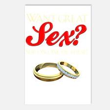 WantGreatSexDark Postcards (Package of 8)