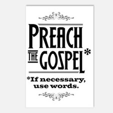 Preach the Gospel 1_light Postcards (Package of 8)