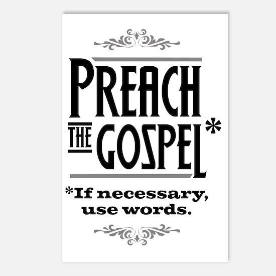Preach the Gospel 1_light Postcards (Package of 8)