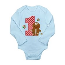 Gingerbread Girl 1st Birthday Long Sleeve Infant B
