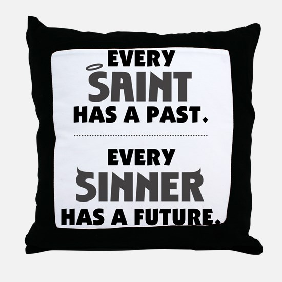 every_saint_light Throw Pillow
