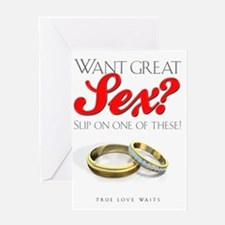 WantGreatSexLight Greeting Card