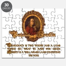 Ben Franklin Two Wolves and a Lamb Puzzle