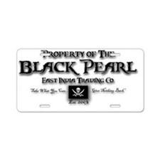 2-black pearl Aluminum License Plate