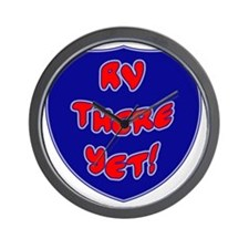 RVThere-HighwaySign Wall Clock