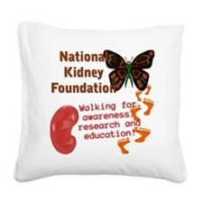 NKF Walk Square Canvas Pillow
