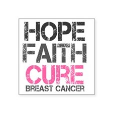 "breastcancer1 Square Sticker 3"" x 3"""
