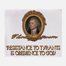 Jefferson Resistance to Tyrants Throw Blanket