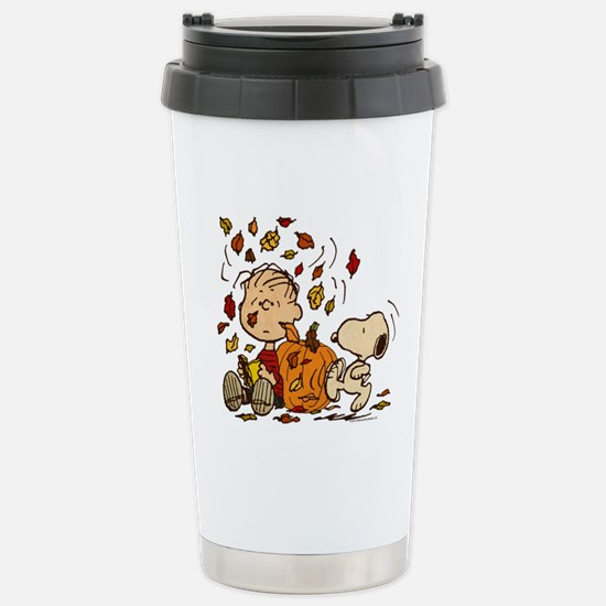 Fall Peanuts Stainless Steel Travel Mug