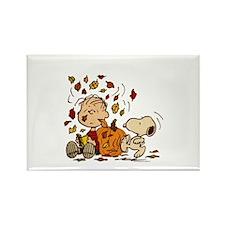 Fall Peanuts Rectangle Magnet
