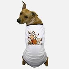 Fall Peanuts Dog T-Shirt