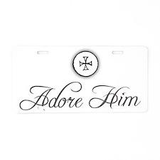 adoreHim2_Light Aluminum License Plate
