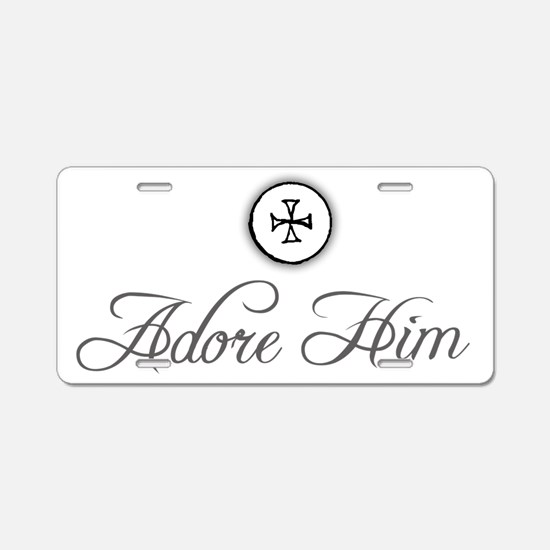 adoreHim2_Light Aluminum License Plate