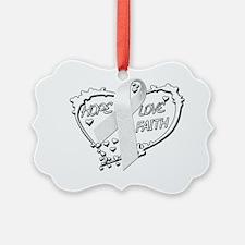 Hope Love Faith Heart (White) Ornament