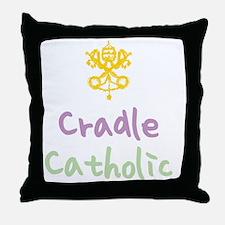 CradleCatholic_both Throw Pillow