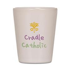 CradleCatholic_both Shot Glass