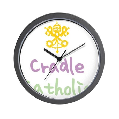 CradleCatholic_both Wall Clock