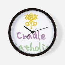 CradleCatholic_both Wall Clock