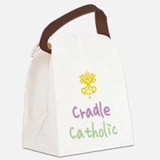 CradleCatholic_both Canvas Lunch Bag