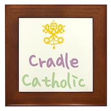 CradleCatholic_both Framed Tile