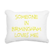 SomeoneInBirminghamYello Rectangular Canvas Pillow