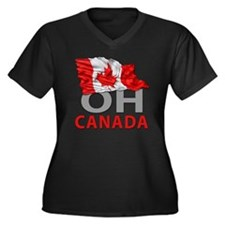 Canada day 0 Women's Plus Size Dark V-Neck T-Shirt
