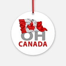 Canada day 02 Round Ornament