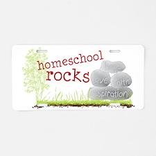 homeschool rocks Aluminum License Plate