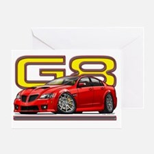 Pontiac_G8_red Greeting Card
