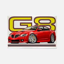 Pontiac_G8_red Rectangle Magnet