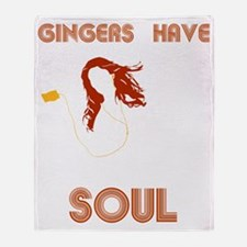 Female Gingers Have Soul Throw Blanket