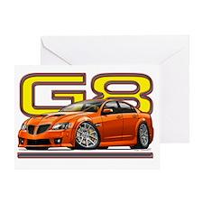 Pontiac_G8_orange Greeting Card
