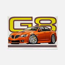 Pontiac_G8_orange Rectangle Magnet
