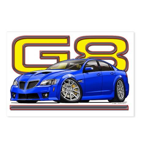 Pontiac_G8_blue Postcards (Package of 8)