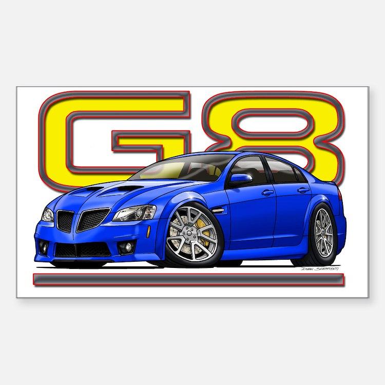 Pontiac_G8_blue Decal