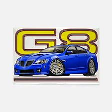 Pontiac_G8_blue Rectangle Magnet